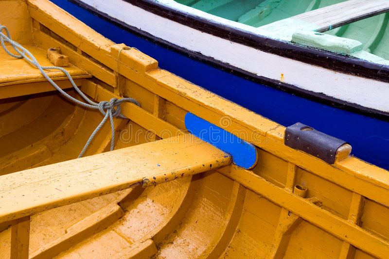 Download Fishing boats stock photo. Image of seats, wooden, bench - 5190850