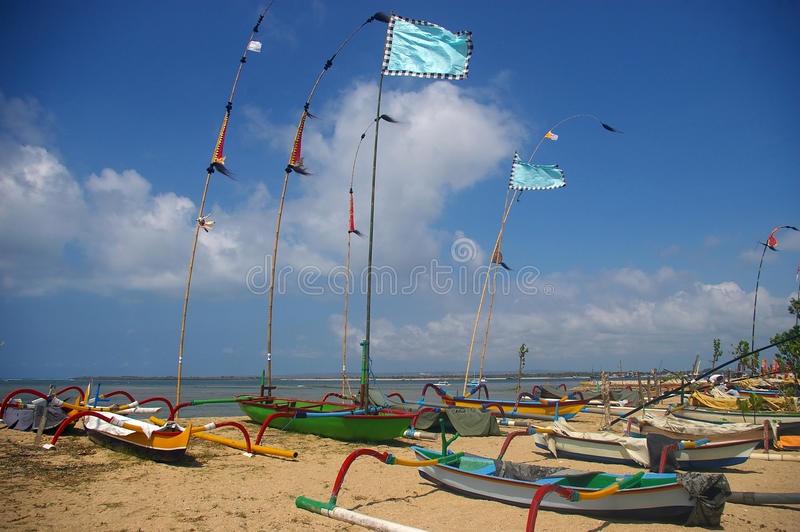Download Fishing boats on the beach stock photo. Image of balinese - 26689220