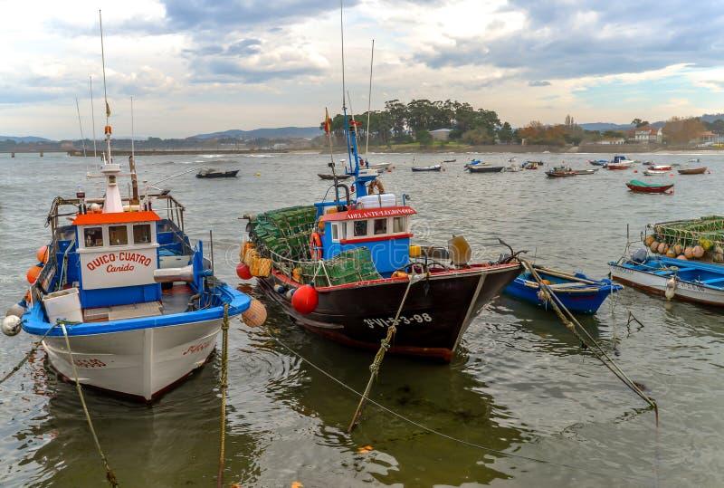 Fishing boats in Canido - Vigo royalty free stock photo