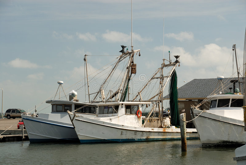 Fishing boats in Corpus Christi royalty free stock photos