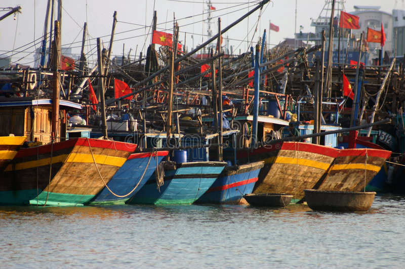 Download Fishing Boats, Danang Vietnam Stock Image - Image of flags, vessel: 2028753