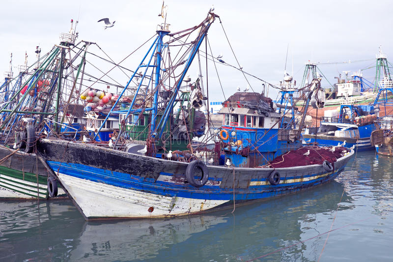 Download Fishing Boats At The Harbor From Essaouria. Essaouria Is The Mos Stock Image - Image: 38289729