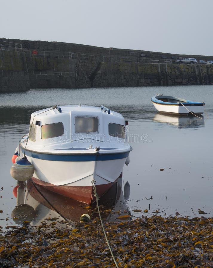 Download Fishing Boats In Harbour At Sunrise Long Exposure Image Stock Photo - Image: 30422526