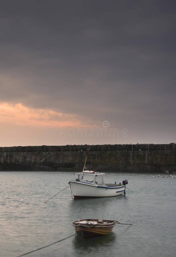 Download Fishing Boats In Harbour At Sunrise Stock Image - Image of attractive, atlantic: 30676945
