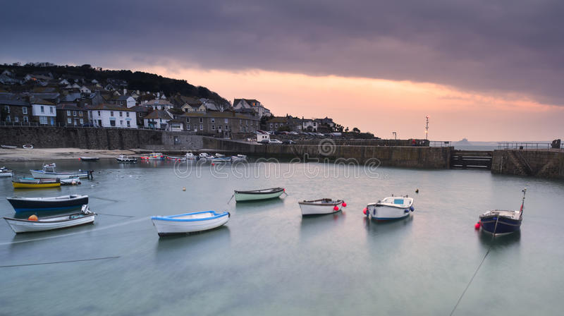 Download Fishing Boats In Harbour At Sunrise Stock Image - Image of colour, harbour: 30676949