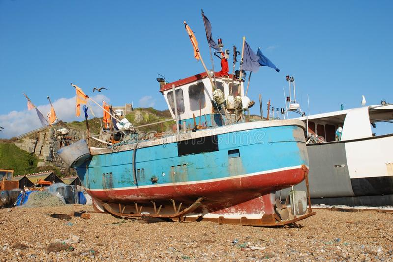 Fishing Boats, Hastings Stock Photography