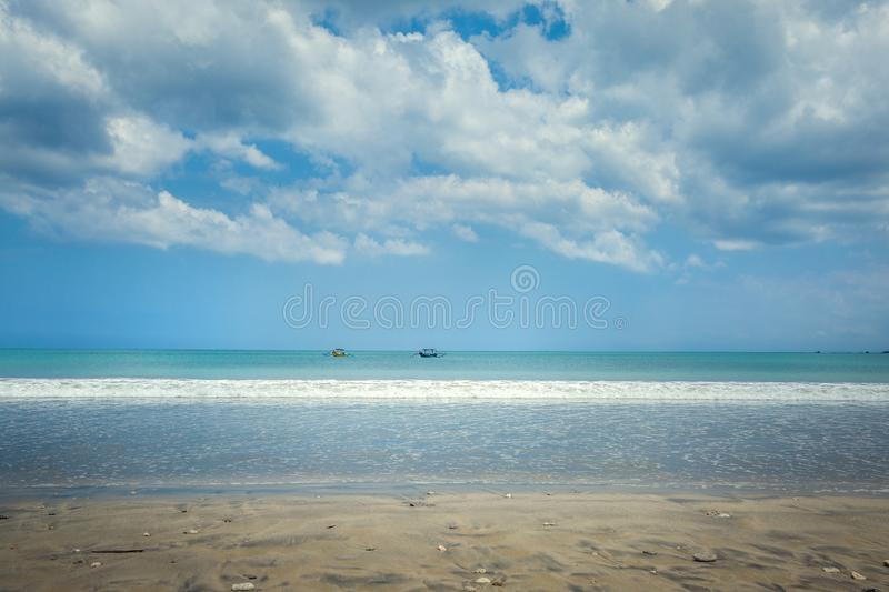 Fishing boats in Jimbaran. Bali, Indonesia stock photo