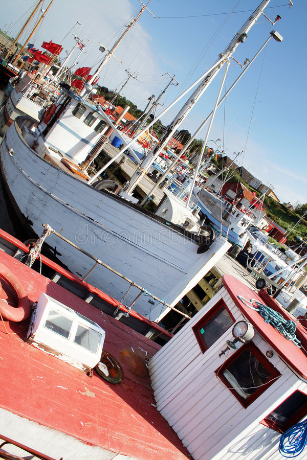Download Fishing boats in marina stock photo. Image of vessel, harbor - 2547796