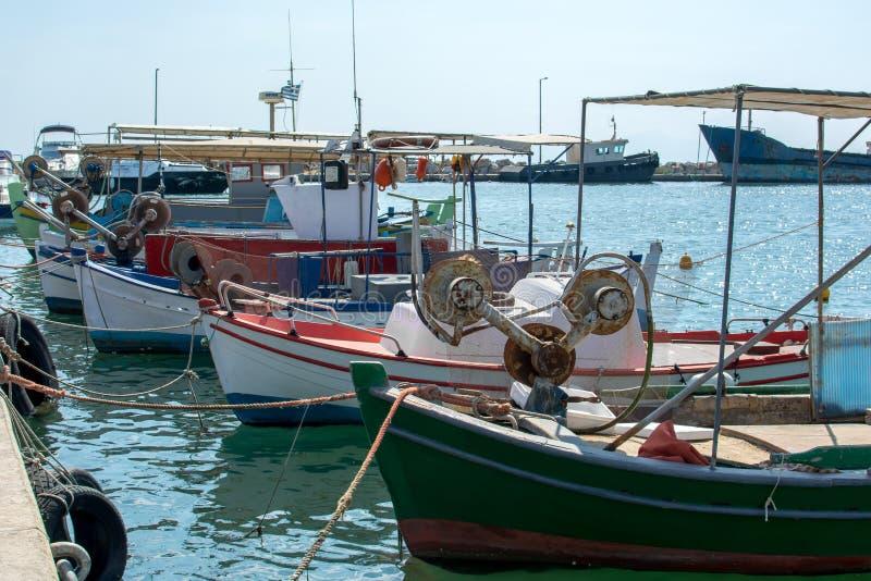 Nea Moudania - Chalkidiki, Greece. Fishing boats at Nea Moudania - Chalkidiki, Greece stock photos