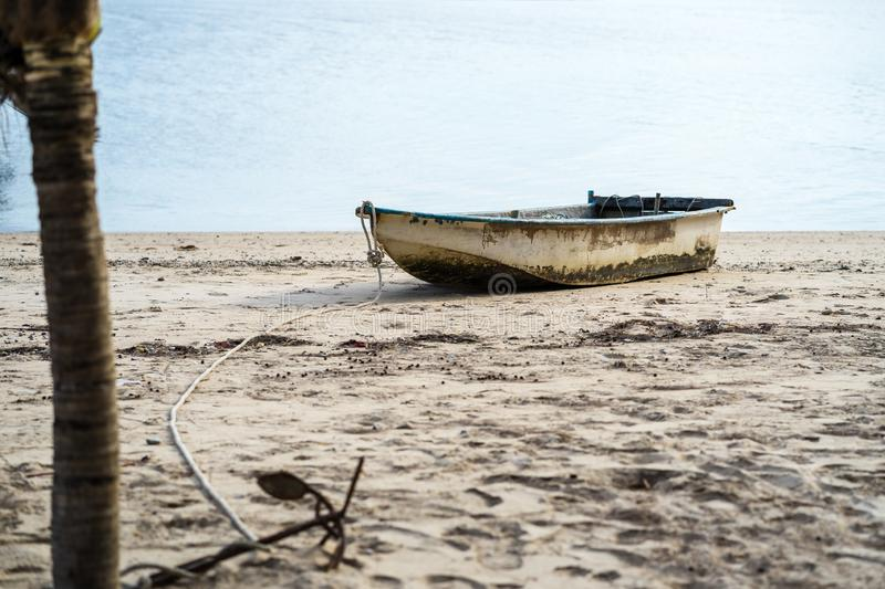 Fishing boats are parked in the Khlong Wan area. Prachuap Khiri Khan royalty free stock photo