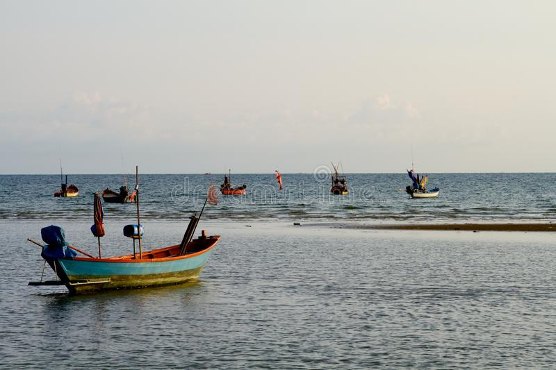 Download Fishing boats ready to go stock photo. Image of southeast - 34162532