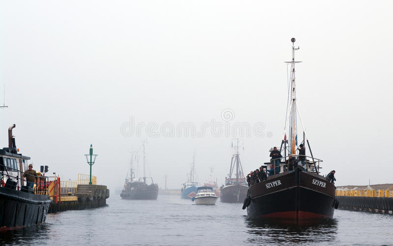 Download Fishing boats return editorial image. Image of private - 21402535