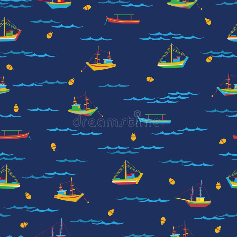 Fishing Boats vector illustration