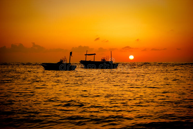 Download Fishing Boats Sunset stock image. Image of tartous, cloud - 13973949