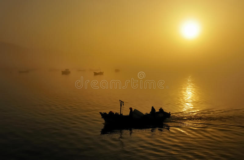 Download Fishing Boats, Sunset Stock Image - Image: 24644891