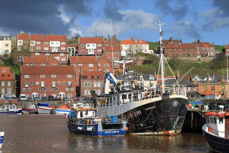 Download Fishing Boats In Whitby Harbour, North Yorkshire. Editorial Photography - Image: 24251572
