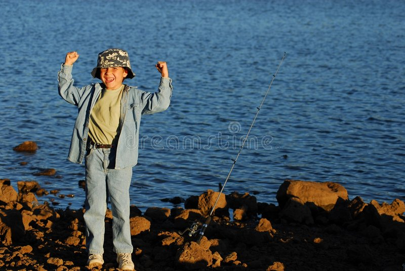 Fishing Boy 20 royalty free stock photo