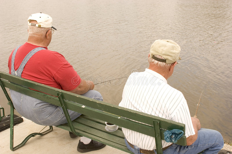 Fishing Buddies 2 stock photos