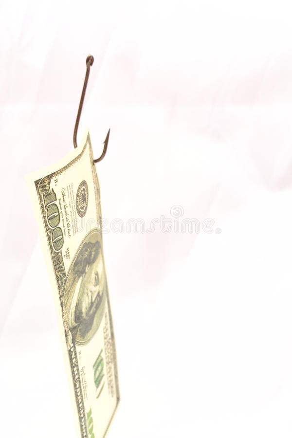 Fishing clients for money. royalty free stock image