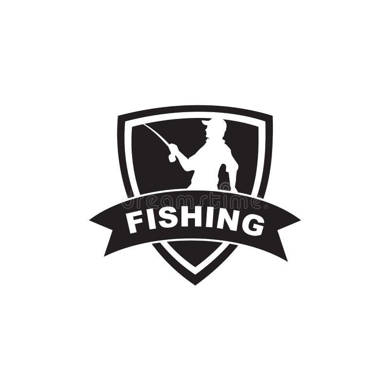 Fishing club logo design vector template. Illustration vector illustration