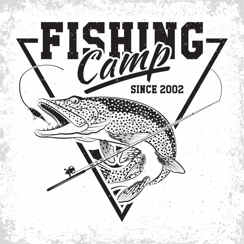 Fishing club logo royalty free stock photos