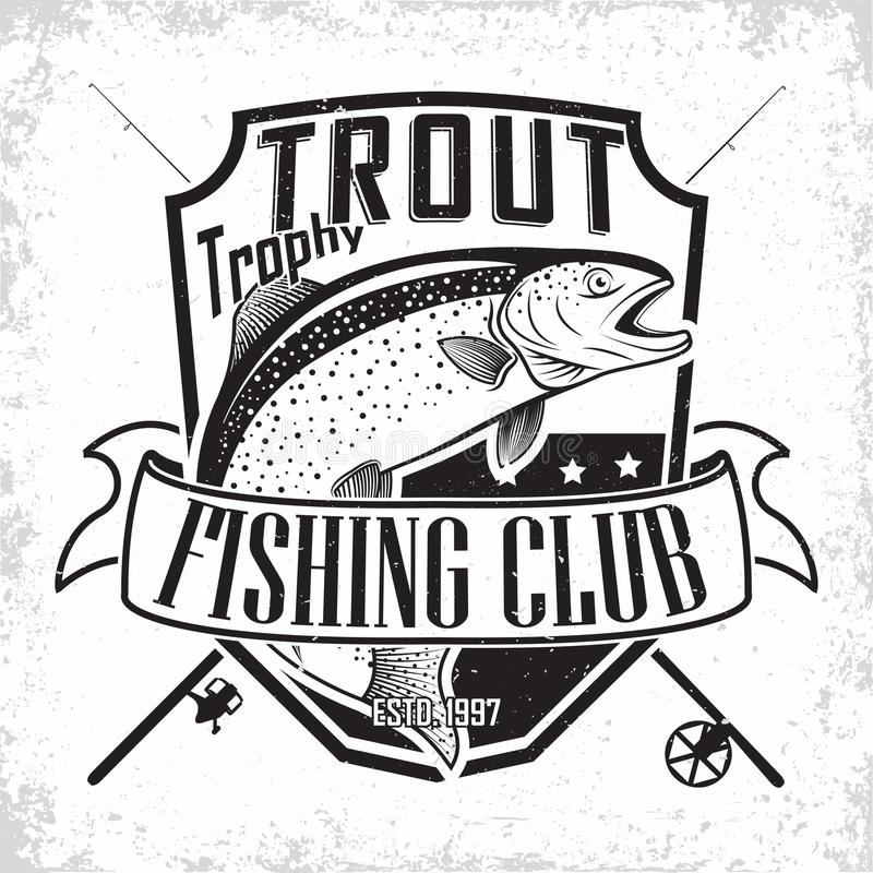 Fishing club logo stock illustration