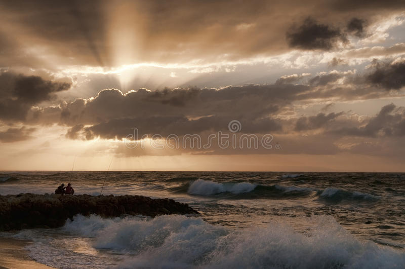 Download Fishing at dawn stock photo. Image of activity, dawn - 17584312