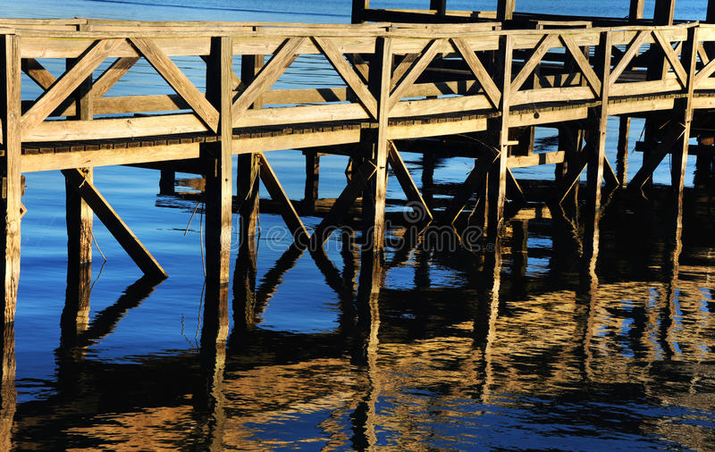 Fishing Dock on Chicot royalty free stock photography