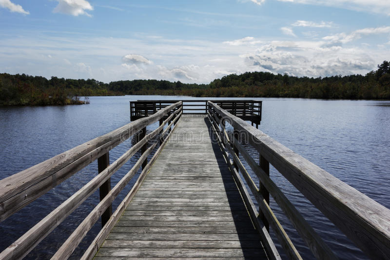 Fishing Dock royalty free stock images