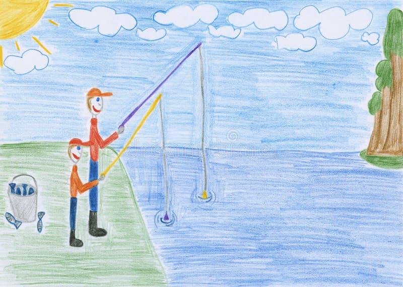 Fishing - drawing
