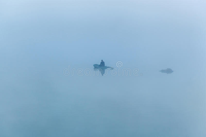 Fishing in the early morning royalty free stock images