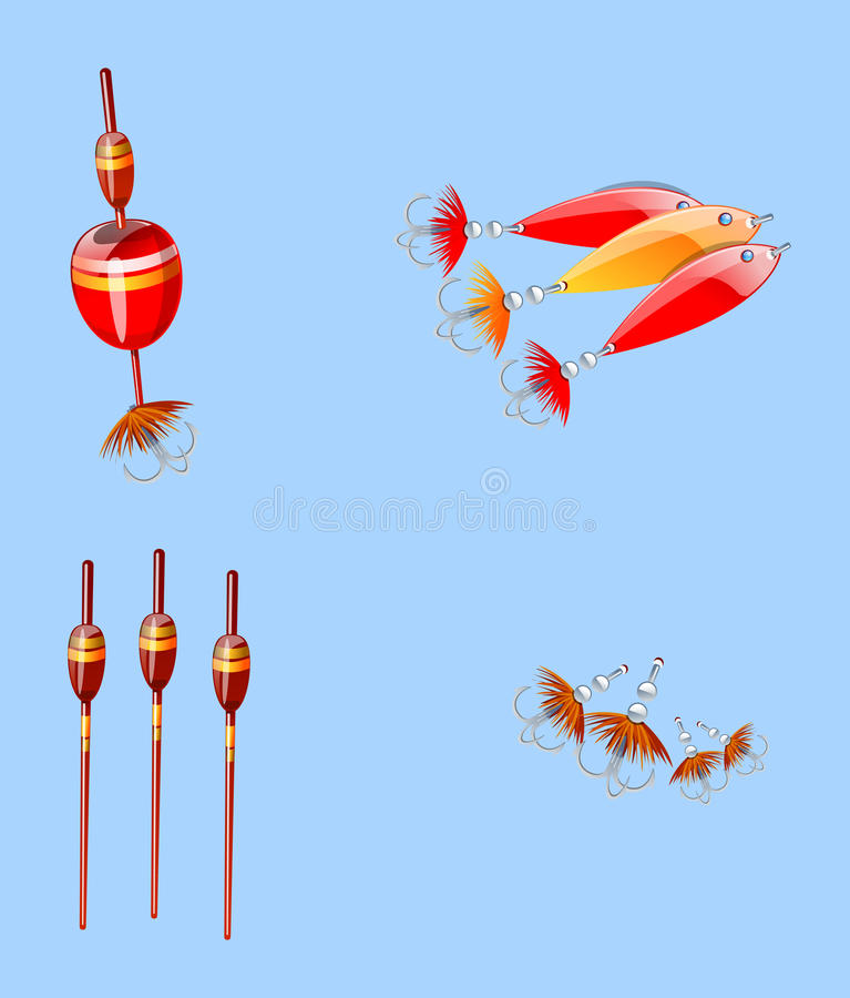 Download Fishing equipment stock illustration. Image of relax - 17576082