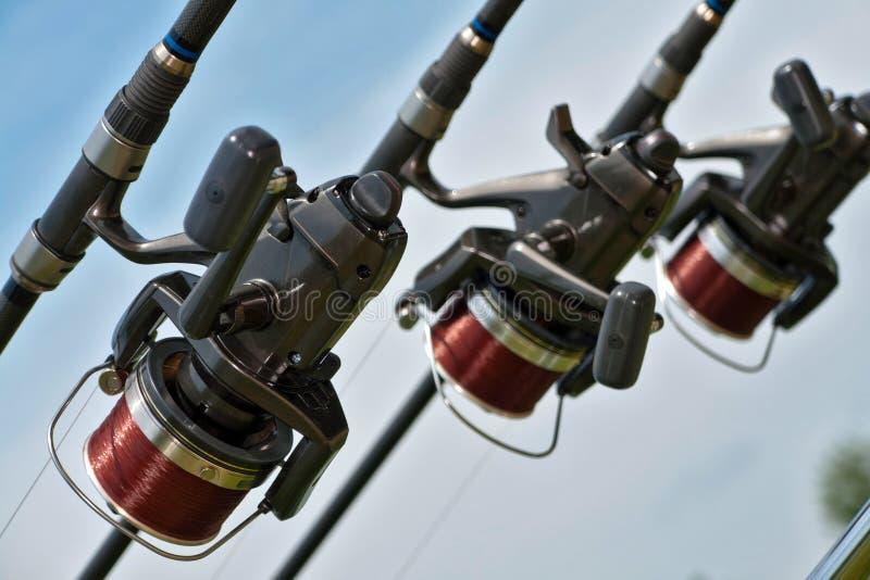 Fishing equipment royalty free stock photos