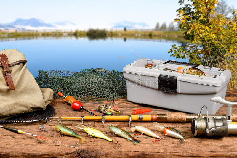 Fishing equipment royalty free stock photography