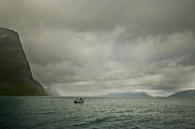 Fishing on fjord