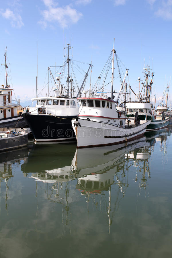 Fishing Fleet Reflection royalty free stock photo