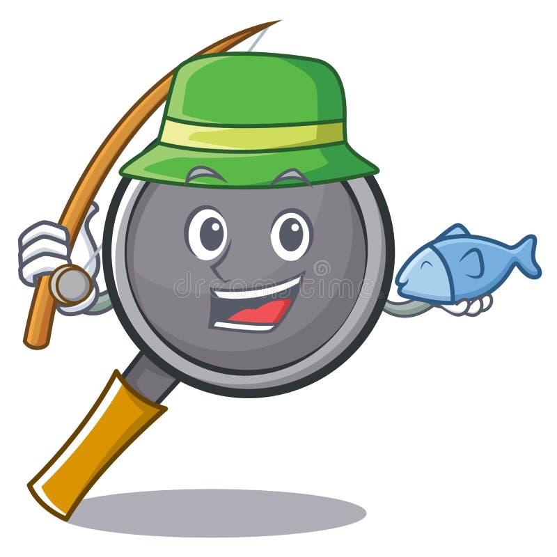Fishing frying pan cartoon character. Vector illustration vector illustration