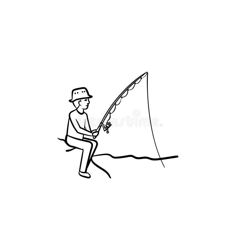 Fishing Hand Drawn Sketch Icon Stock Vector Illustration Of Draw Main 115077096