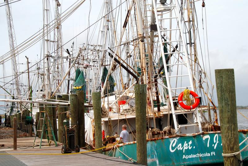 Fishing harbor royalty free stock photo