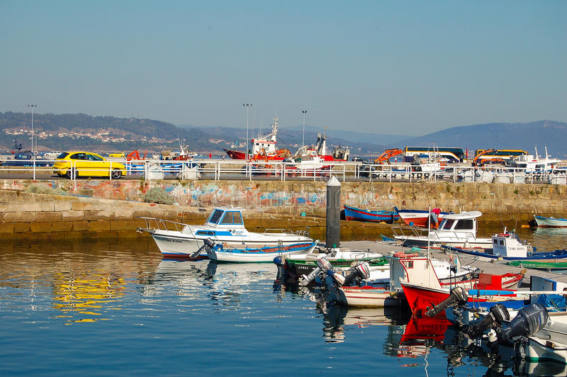 Fishing Harbour - Muros royalty free stock photos