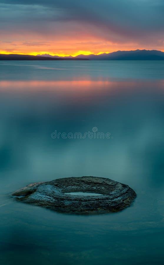 Fishing Hole in Yellowstone Lake royalty free stock photo