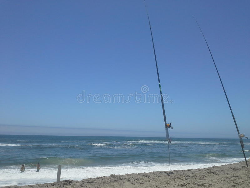 Fishing holiday in Namibia royalty free stock photos