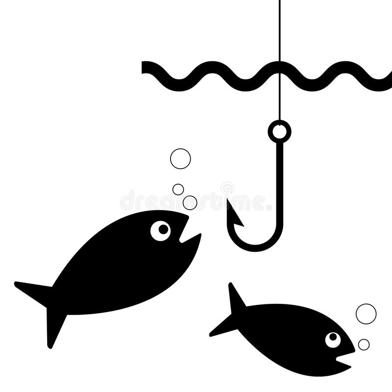 Fishing hook stock illustration