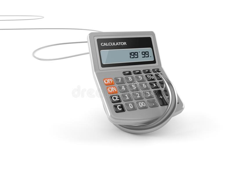 Fishing hook with calculator royalty free illustration