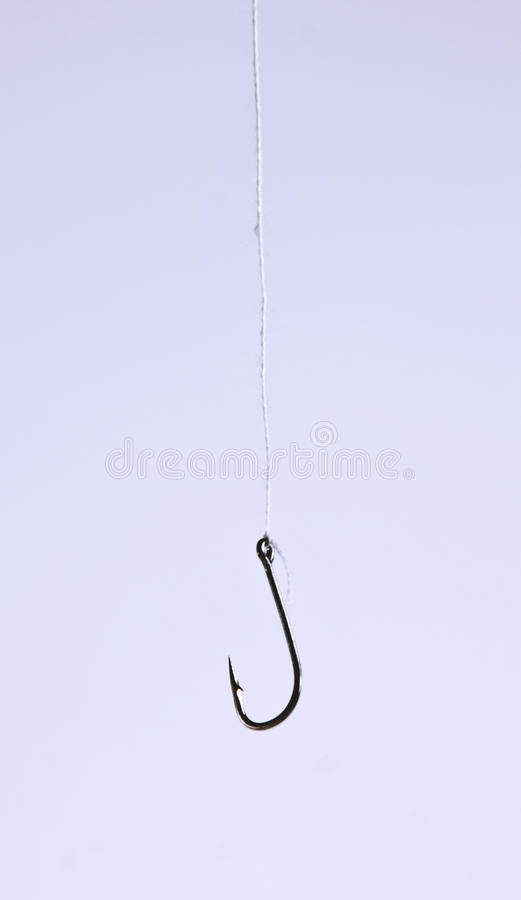 Fishing hook with neutral space royalty free stock image