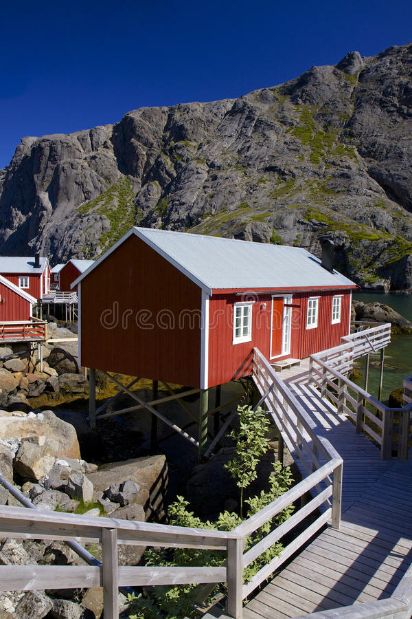 Download Fishing hut stock image. Image of flakstadoya, rorbuer - 26690171