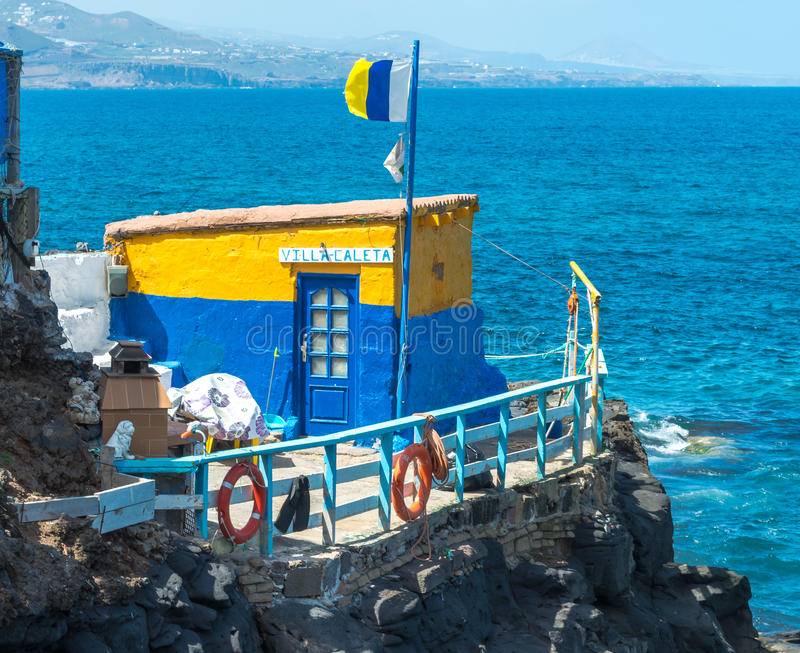 Fishing Hut in Bay stock photography