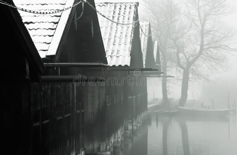 Download Fishing Huts And Misty Lake Stock Photo - Image of huts, freezing: 13261482