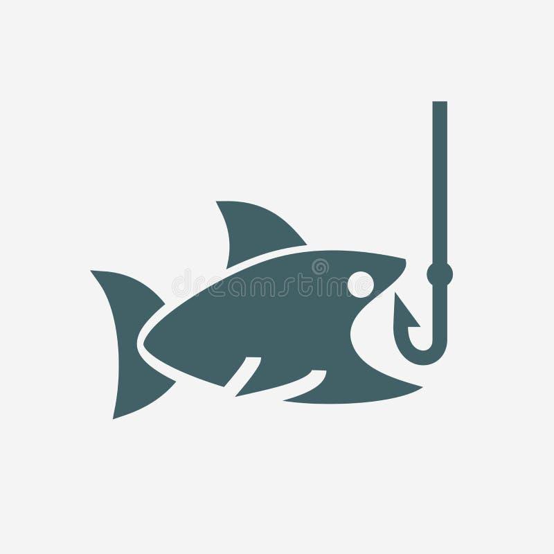 Fishing icon. Isolated on white background royalty free illustration