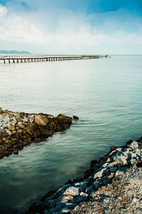 Download Fishing Jetty stock photo. Image of land, water, rock - 26043594